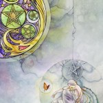 5 of Pentacles from The Shadowscapes Tarot by Stephanie Pui-Mun Law