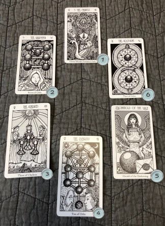 The 6 card spread I used to bring in 2018.