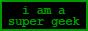 I am a super geek: geekiness = 47.23247%