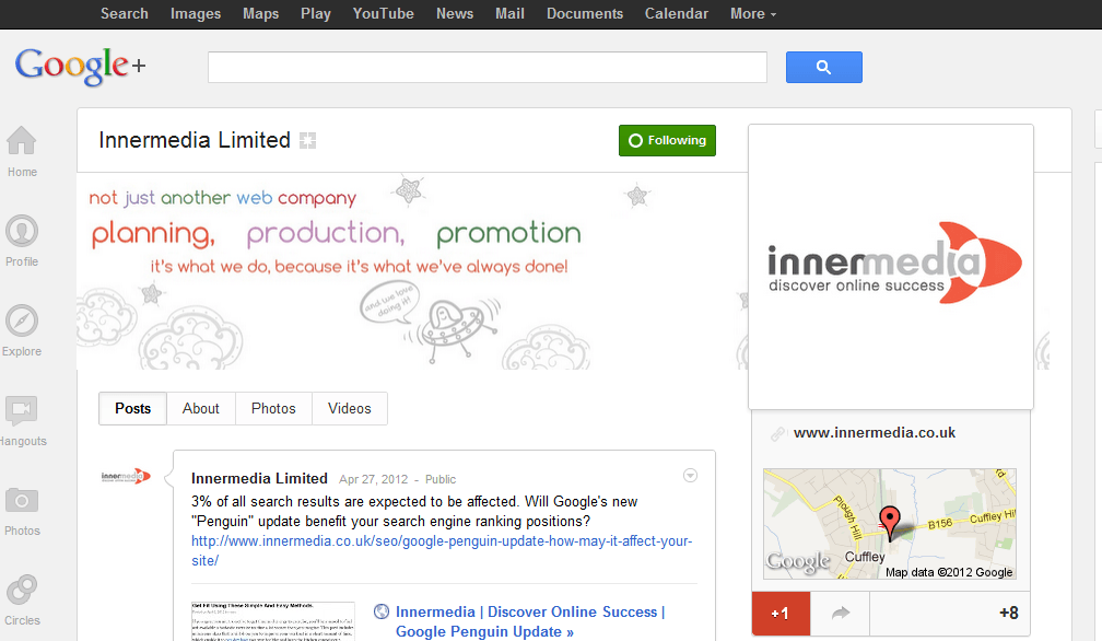 Innermedia & Google do Search Plus Your World