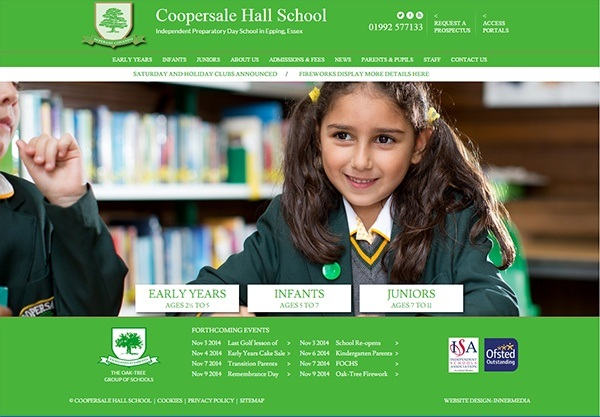coopersale-hall-school-website-design