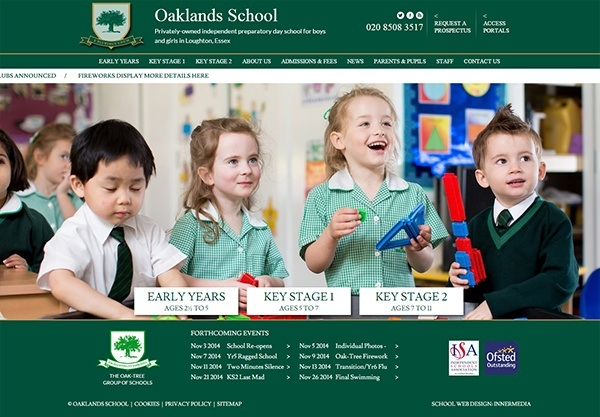 oaklands-school-website-design