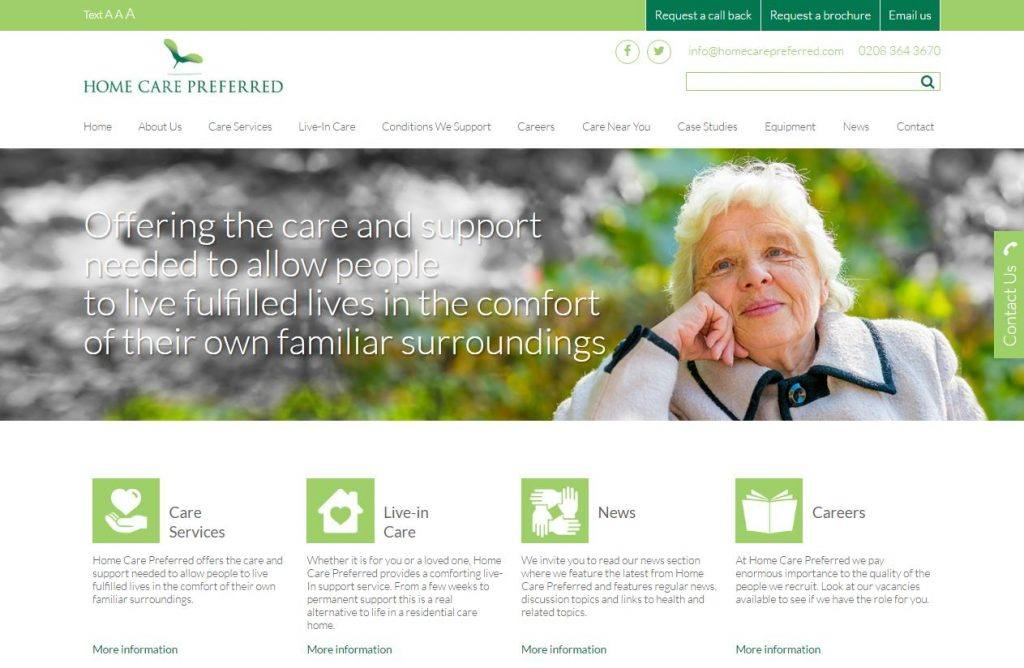 care services website