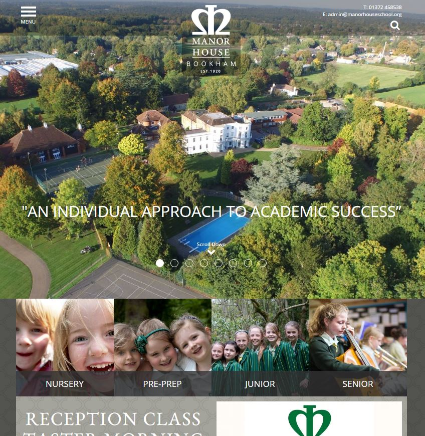 beautiful independent school website