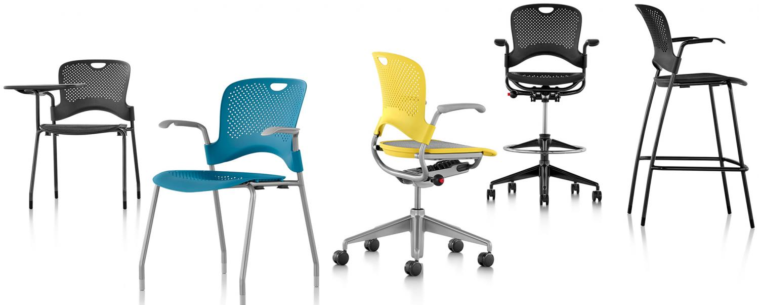 CAPER STACKING CHAIR BY HERMAN MILLER