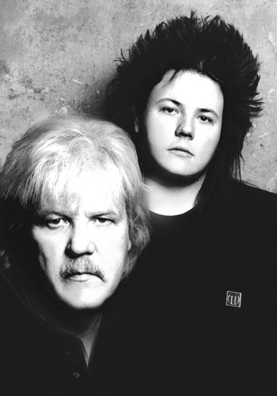 Edgar and son Jerome Froese of Tangerine Dream