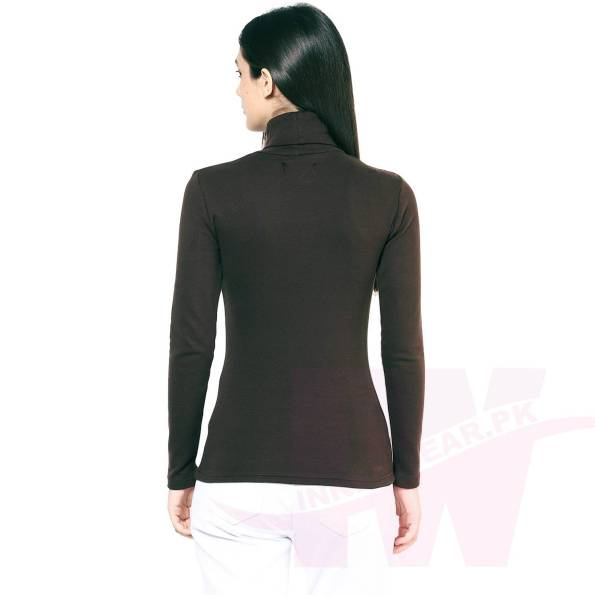 Ladies High Neck Winter Warmer Back Side