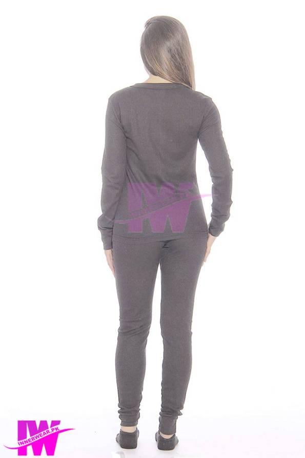 Women Long Johns Dark Grey Back1