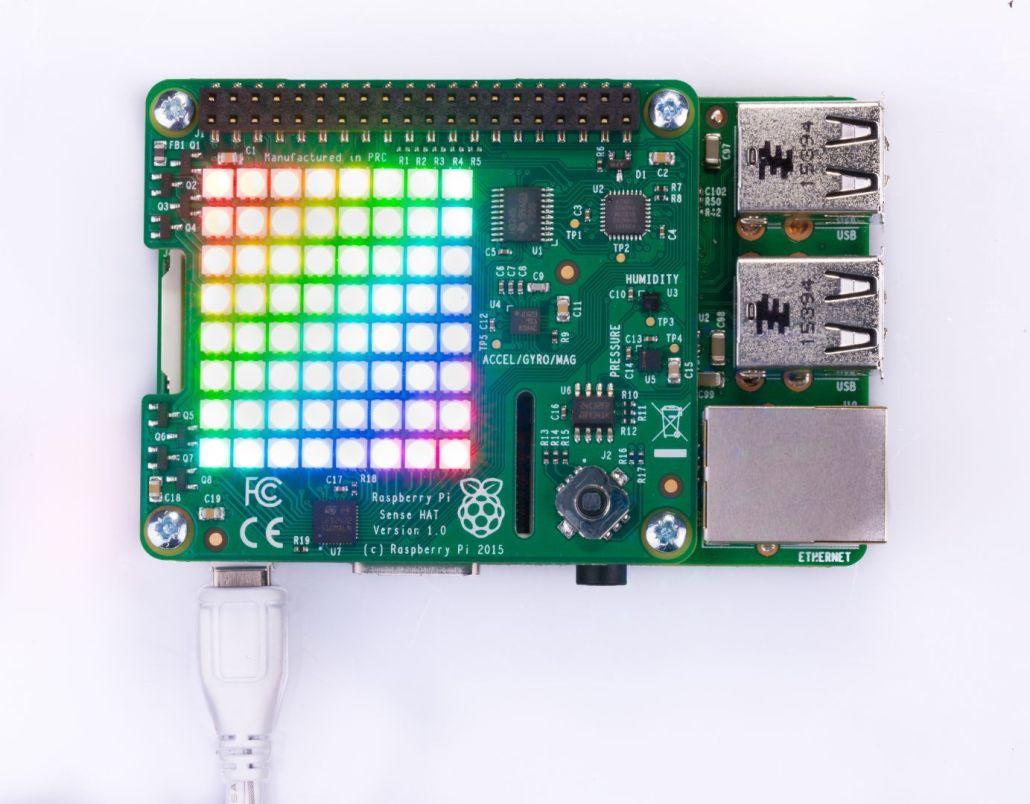 Matriz RGB de la tarjeta Sensor Hat