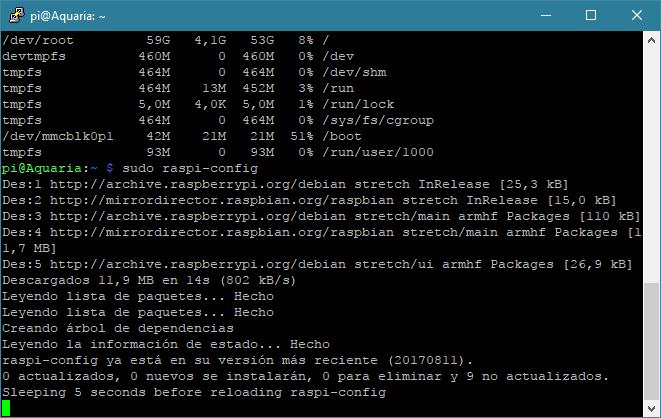 Actualización de Raspbian