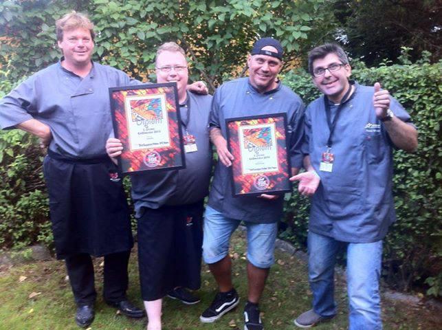 Dirk, Johnny, Hans Petter og Steve etter årets NM - Bildet er hentet fra deres Facebookside