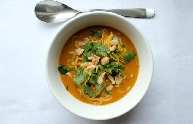 Kylling curry kokosmelk suppe