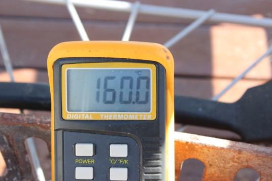 160 grader ved kjøttet