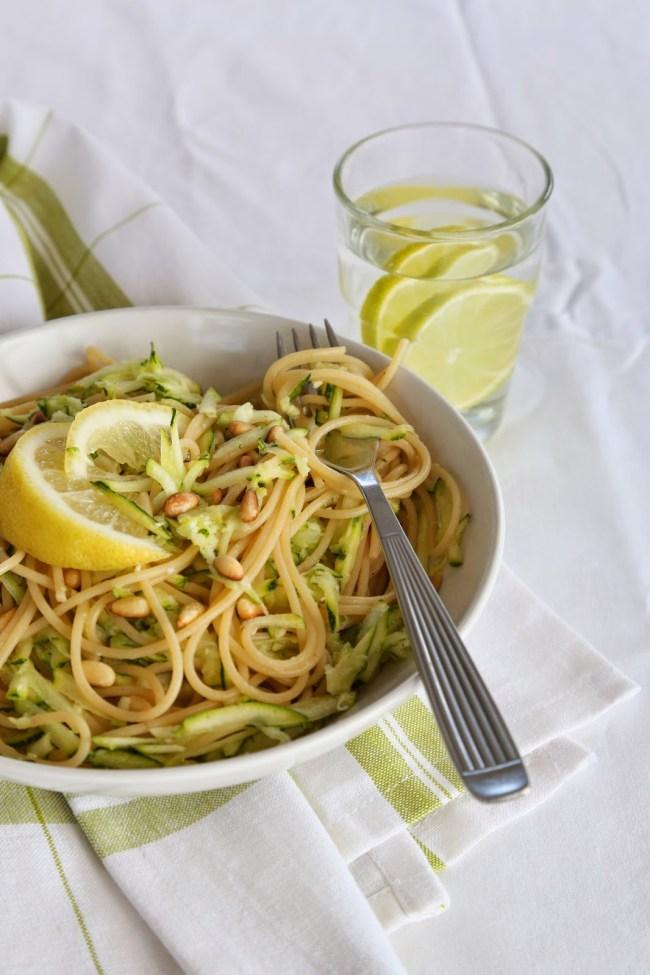 Spagetti med squash og sitron - foto Marias Salt og Søtt