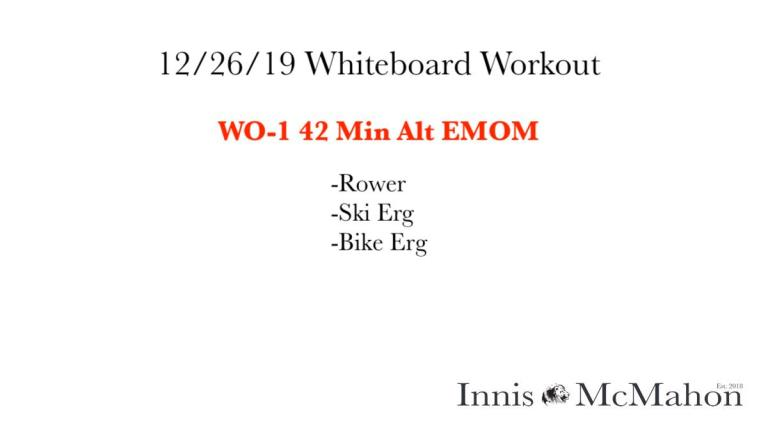 12/26/19 Whiteboard Workout