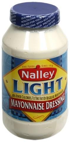 Nalley Light Mayonnaise Dressing - 32 oz Nutrition ...