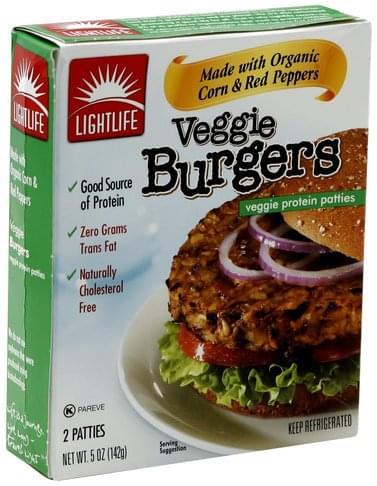 Lightlife Veggie Burgers Veggie Protein Patties - 2 ea ...