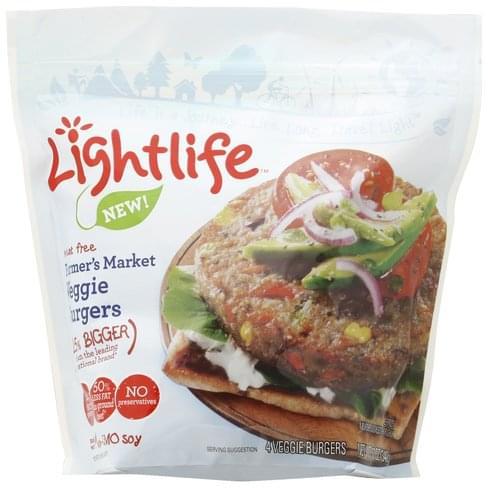 Lightlife Farmer's Market Veggie Burgers - 4 ea Nutrition ...