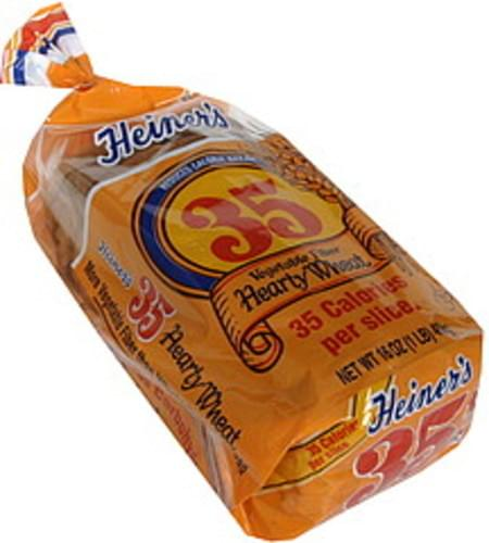 Heiner's Reduced Calorie 35 Hearty Wheat Bread - 16 oz ...