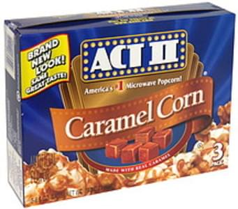 act ii caramel corn microwave popcorn