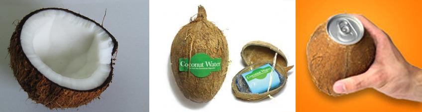 Coconut Water- Agua de Coco - envase innovador