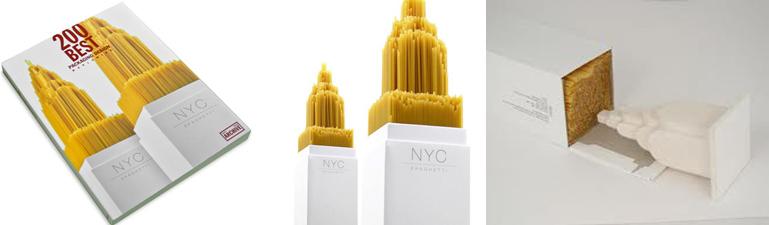 nyc spaghetti - envase innovador