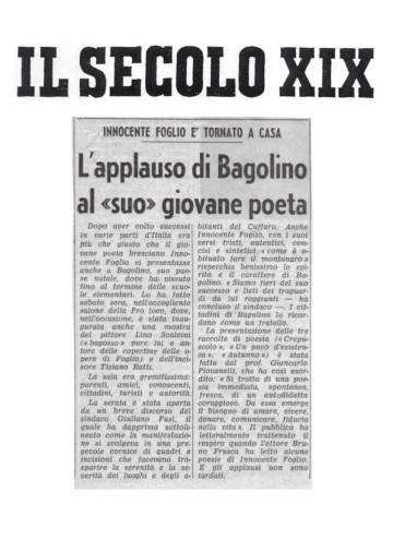 L'applauso di Bagolino al suo giovane poeta - Il Secolo XIX