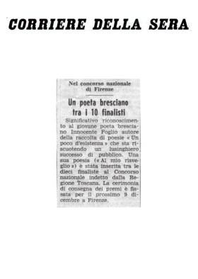 Un poeta bresciano tra i dieci finalisti - Corriere della Sera
