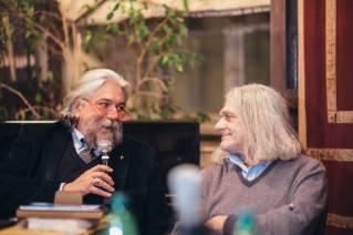 Il Prof. Alessandro Meluzzi con ol Poeta Innocente Foglio al circolo degli artisti di Torino