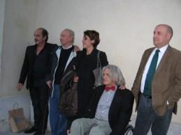 Pino Roveredo vincitore premio Campiello, il maestro Antonio Stagnoli, Antonella Gatti Bardelli, Innocente Foglio e Mario Zanetti
