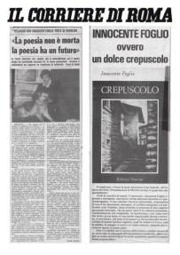 La poesia non è morta la poesia ha un futuro – Il Corriere di Roma