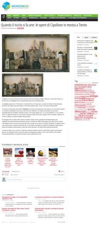 Quando il riciclo si fa arte le opere di Cipollone in mostra a Trento - Mondoeco