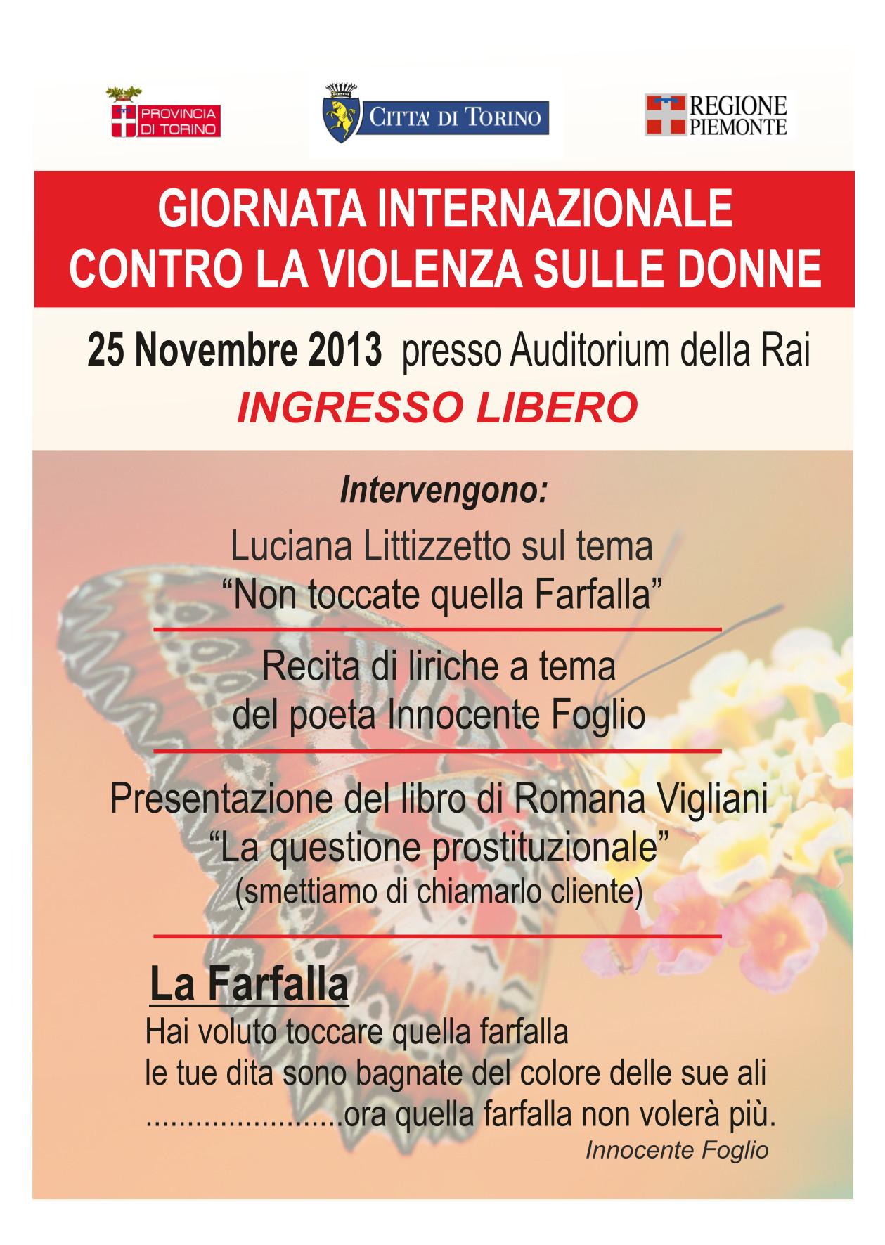 giornata internazionale contro la violenza sulle donne - innocente foglio