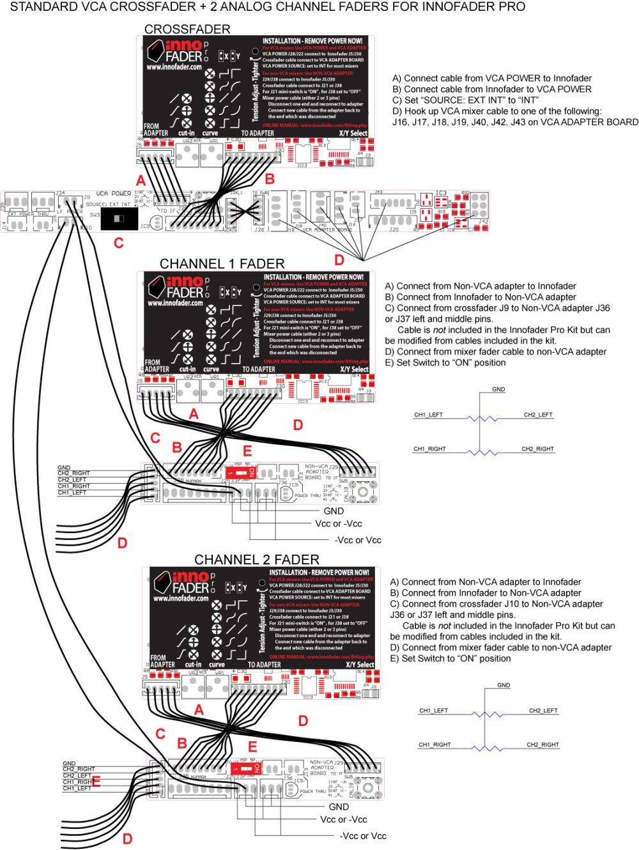 medium resolution of vca crossfader 2 non vca line fader hookup