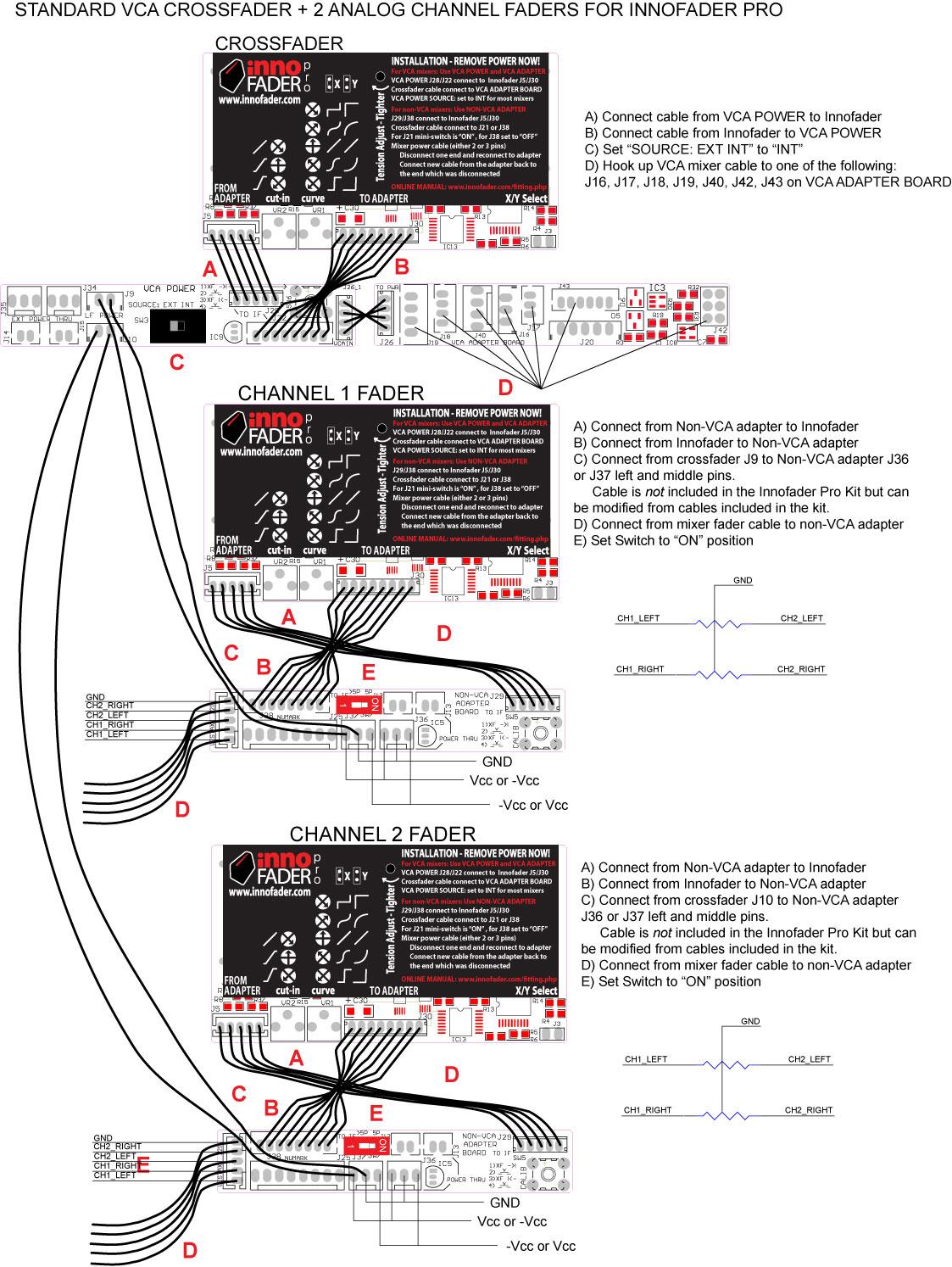 hight resolution of vca crossfader 2 non vca line fader hookup
