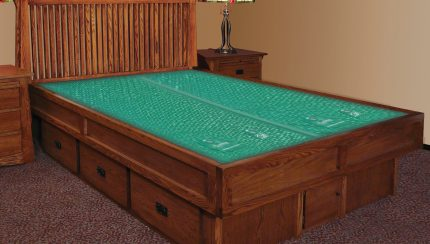 Mission Creek Waterbed With Bookcase Headboard Casepieces Innomax