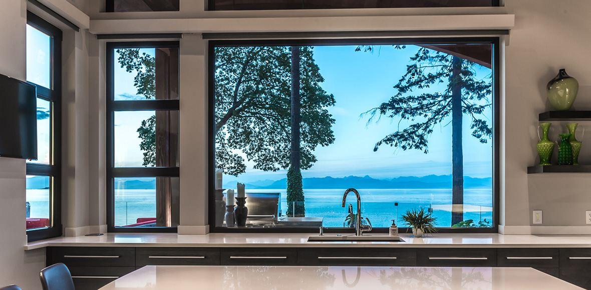 design ideas for kitchen sink windows