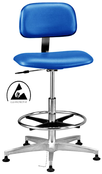 Class 100 ESD Safe Cleanroom Chair Durable 16 Ga Tube