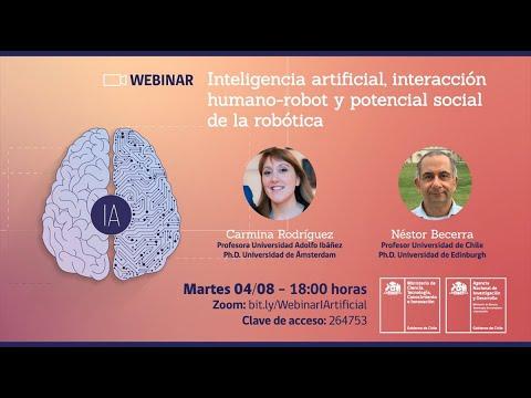 """Webinar. """"Inteligencia artificial, interacción humano-robot y potencial social de la robótica""""."""