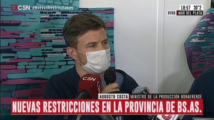Augusto Costa brindó una conferencia sobre la implementación de medidas sanitarias en la Provincia