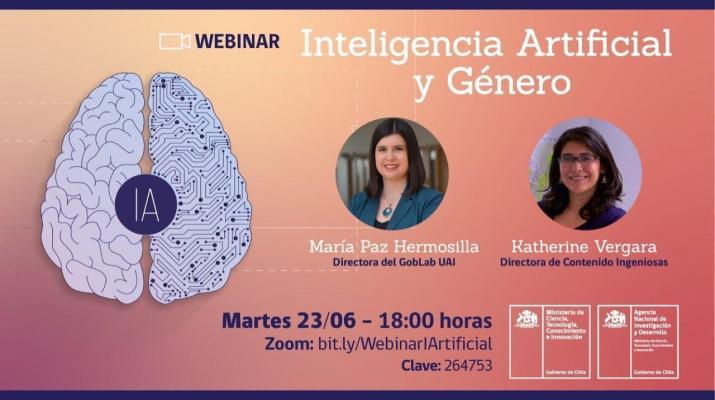 """Webinar: """"Inteligencia Artificial y Género"""""""