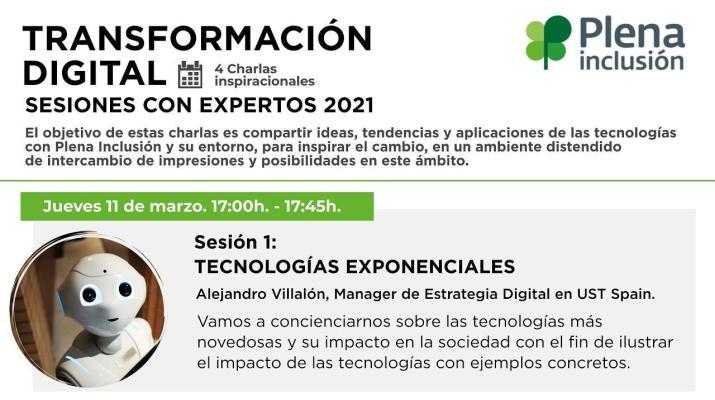 Tecnologías exponenciales. Ciclo de Transformación Digital   Plena inclusión
