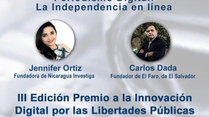 Entrega del premio Innovación Digital de la Fundación Violeta Barrios de Chamorro