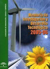 Memoria de Investigación y Desarrollo Tecnológico 2005-2006