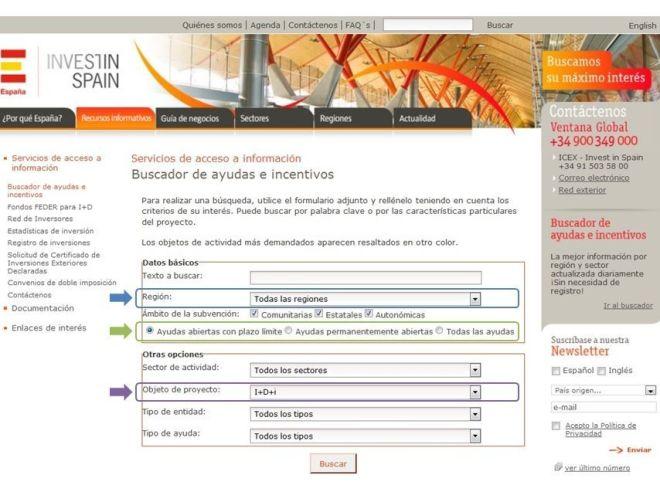 ICEX España Exportación e Inversiones - Buscador Invest in Spain