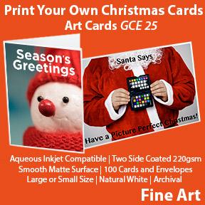 Print Your Own christmas Cards   Innova Inkjet Art Cards