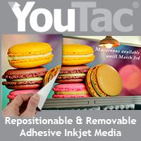 YouTac® Adhesive Inkjet Media