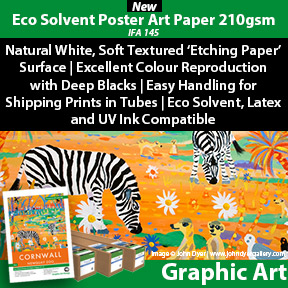 Eco Solvent Poster Art Paper 210gsm (IFA-145) | Archival Eco Solvent Poster Paper | Innova Graphic Art Range