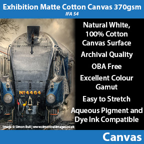 Innova Exhibition Matte Cotton Canvas 370gsm (IFA 54) | Inkjet Canvas