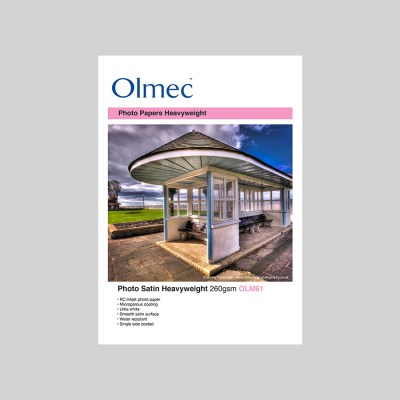 Olmec Photo Satin Heavyweight 260gsm Resin Coated Inkjet Photo Paper